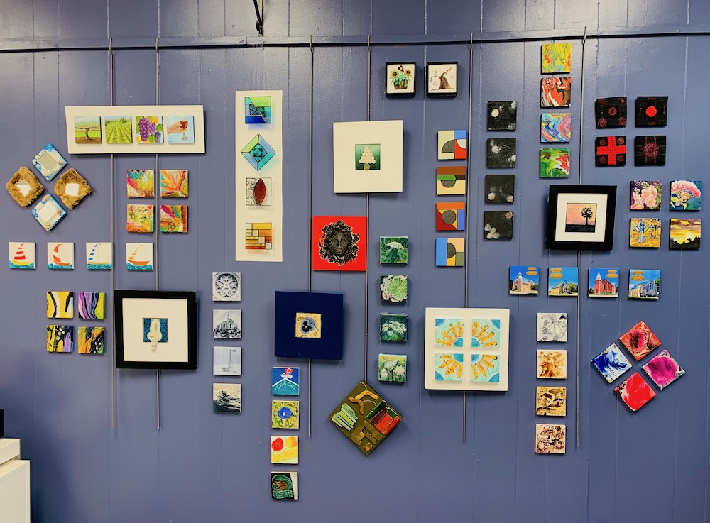 Our 4X4 exhibit by gallery artists is now on display on  the feature wall in the gallery.